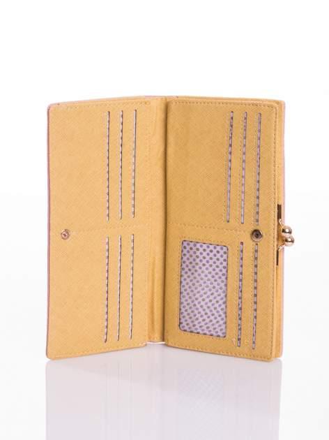 Granatowy elegancki portfel na bigiel                                  zdj.                                  3