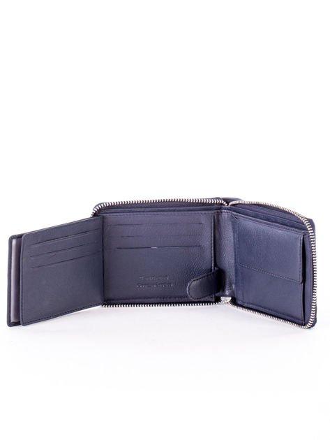 Granatowy portfel dla mężczyzny ze skóry naturalnej                              zdj.                              5