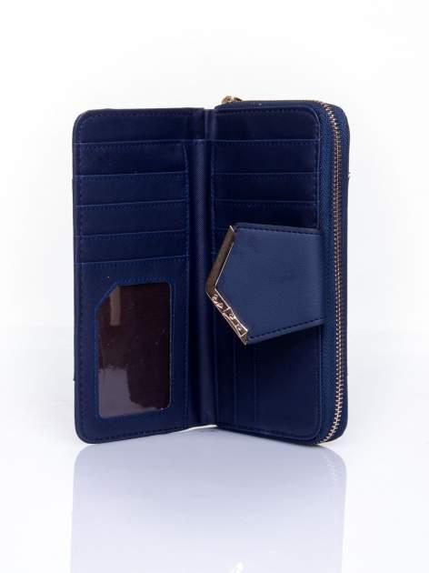 Granatowy portfel ze złoconą klamrą                                  zdj.                                  4
