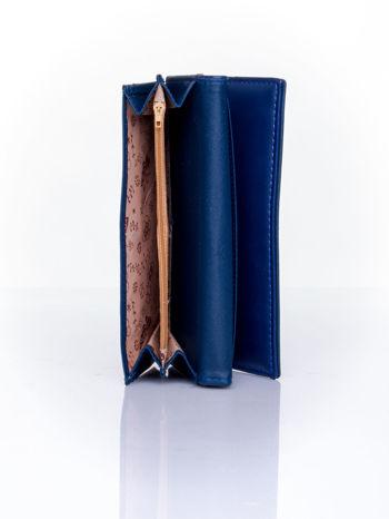 Granatowy portfel ze złotym zapięciem                                   zdj.                                  5