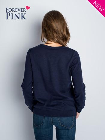 Granatowy rozpinany sweter z bawełny                                  zdj.                                  3