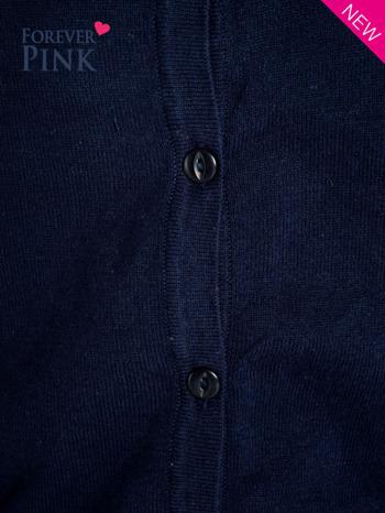 Granatowy rozpinany sweter z bawełny                                  zdj.                                  6