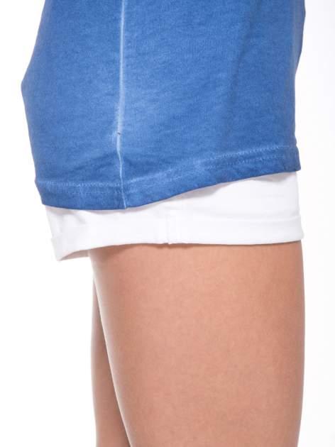 Granatowy t-shirt z nadrukiem GUNS N' ROSES                                  zdj.                                  8