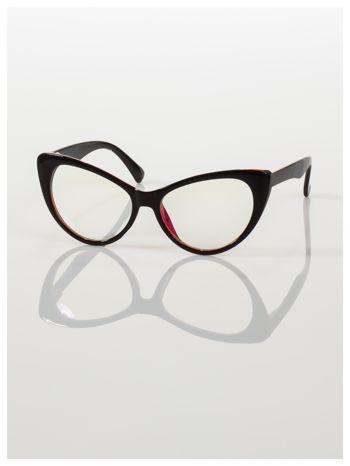 HIT 2016 Modne okulary zerówki KOCIE OCZY w stylu Marlin Monroe- soczewki ANTYREFLEKS+system FLEX na zausznikach                                  zdj.                                  1