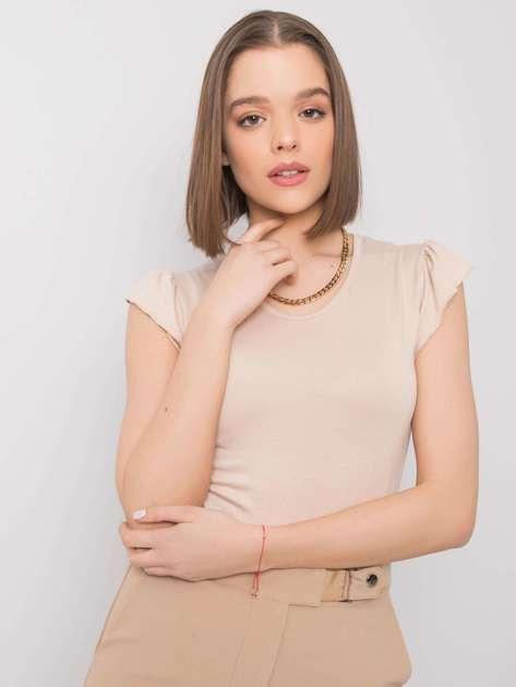 Jasnobeżowa bluzka Lottie RUE PARIS