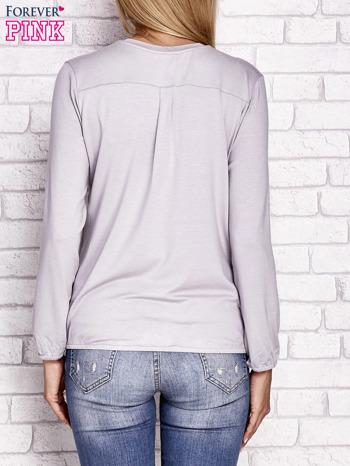 Jasnobeżowa bluzka ze ściągaczem na dole                                  zdj.                                  4