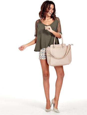 Jasnobeżowa torba shopper bag                                  zdj.                                  2