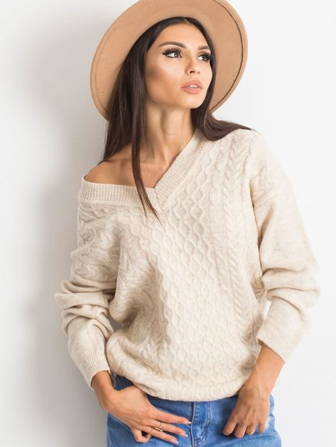 Jasnobeżowy sweter Chill                              zdj.                              7