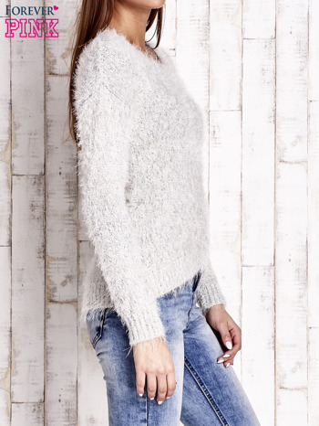 Jasnobeżowy sweter long hair                                  zdj.                                  3