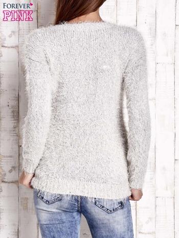 Jasnobeżowy sweter long hair                                  zdj.                                  4