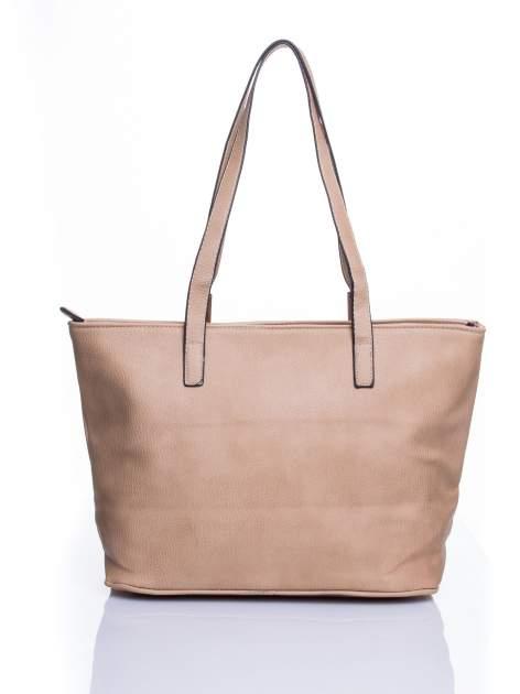 Jasnobrązowa prosta torba shopper bag                                  zdj.                                  3