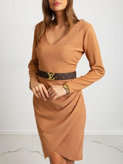 Jasnobrązowa sukienka Fireside                              zdj.                              3