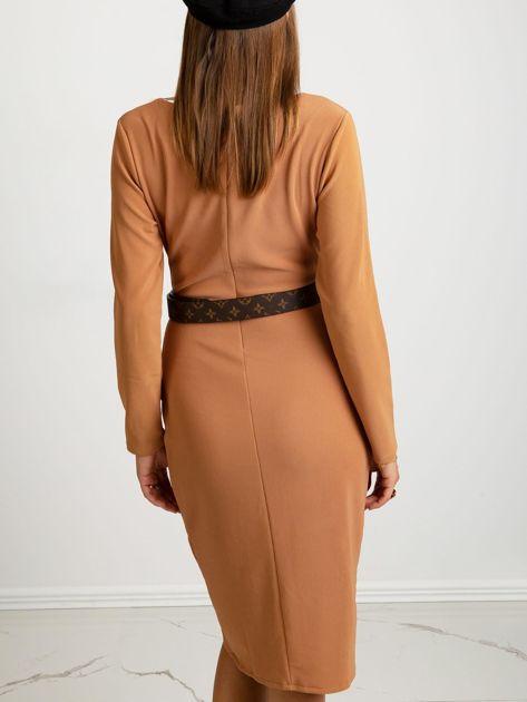 Jasnobrązowa sukienka Fireside                              zdj.                              2