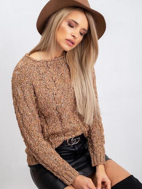 Jasnobrązowy sweter Erika                              zdj.                              1