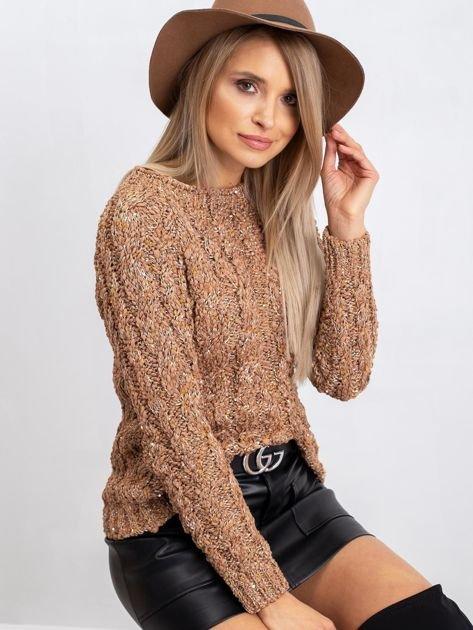 Jasnobrązowy sweter Erika                              zdj.                              3