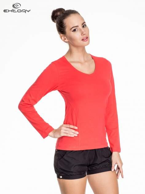 Jasnoczerwona bluzka sportowa basic PLUS SIZE