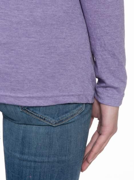 Jasnofioletowa gładka bluzka z reglanowymi rękawami                                  zdj.                                  8