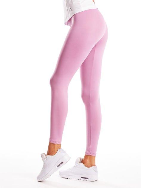 Jasnofioletowe długie cienkie legginsy do biegania                              zdj.                              3