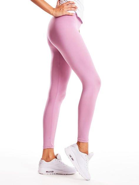 Jasnofioletowe długie cienkie legginsy do biegania                              zdj.                              5