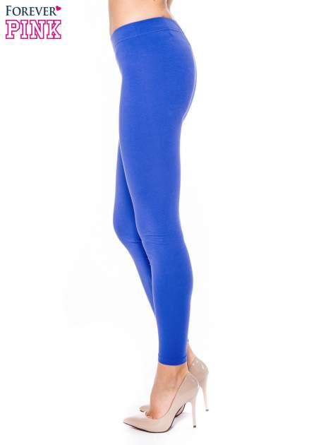 Jasnogranatowe legginsy z bawełny                                  zdj.                                  2