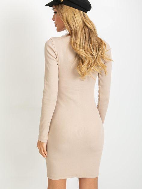 Jasnokawowa sukienka Juliet                              zdj.                              2