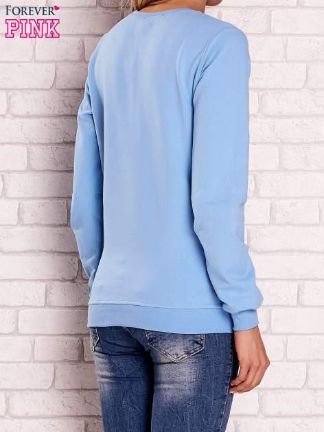 Jasnoniebieska bluza z nadrukiem łapacza snów                                  zdj.                                  4
