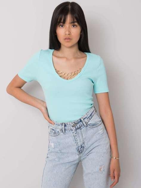 Jasnoniebieska bluzka na co dzień Alissa