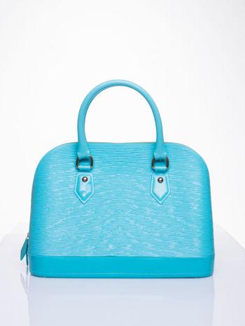 Jasnoniebieska fakturowana torba gumowa kuferek z rączką                                  zdj.                                  1