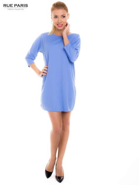 Jasnoniebieska prosta sukienka                                  zdj.                                  5