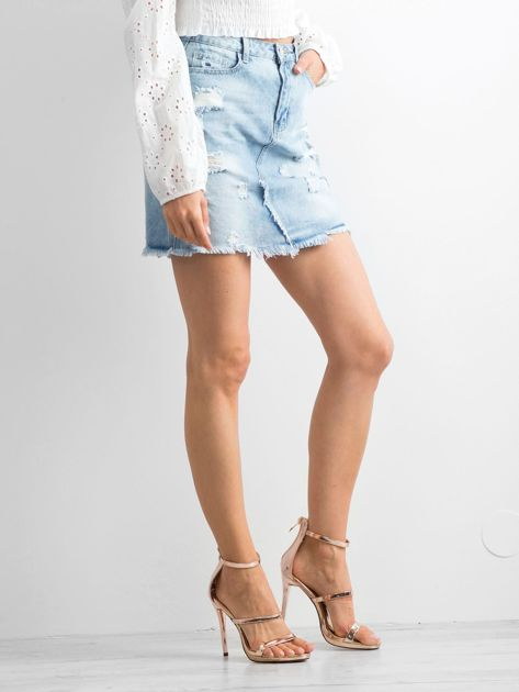 Jasnoniebieska spódnica Jersey                              zdj.                              3