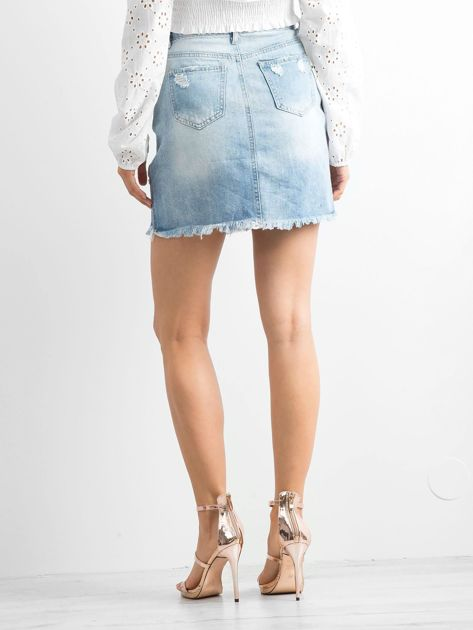 Jasnoniebieska spódnica Jersey                              zdj.                              2