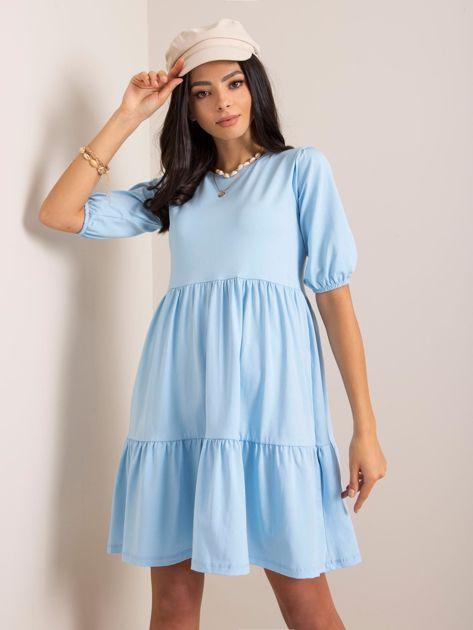 Jasnoniebieska sukienka Perla RUE PARIS