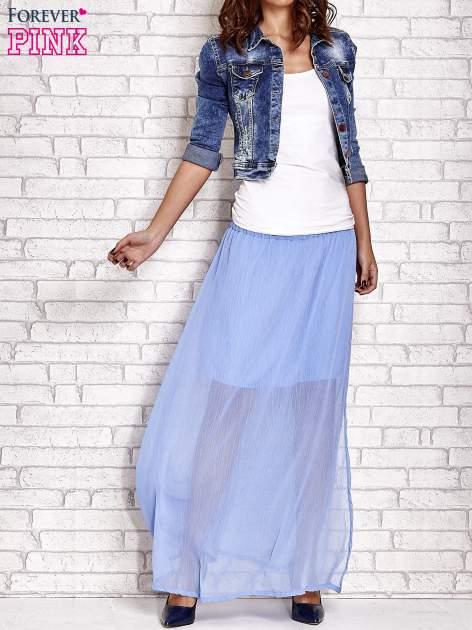 Jasnoniebieska transparentna spódnica maxi                                  zdj.                                  2