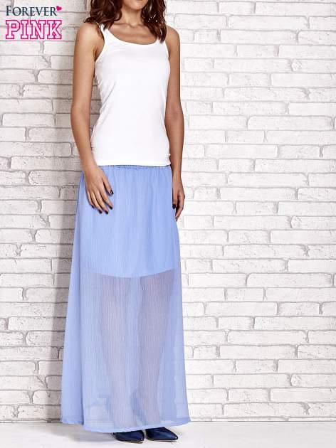Jasnoniebieska transparentna spódnica maxi                                  zdj.                                  6