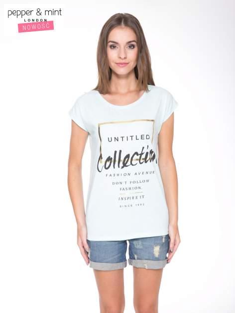 Jasnoniebieski t-shirt z nadrukiem UNTITLED COLLECTION                                  zdj.                                  1