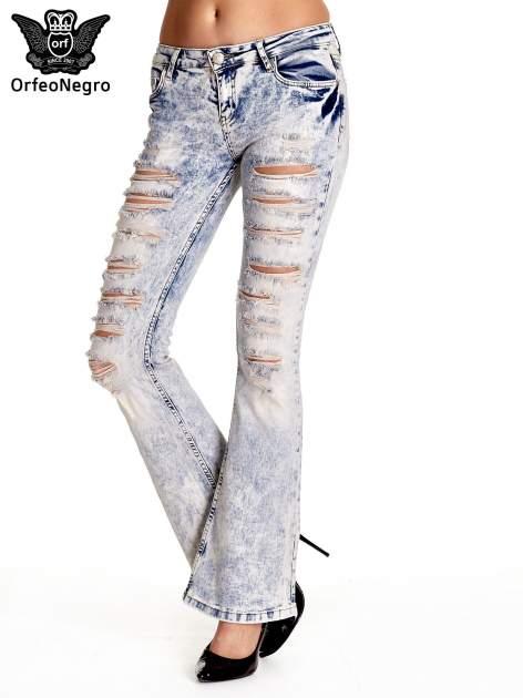 Jasnoniebieskie spodnie jeansowe dzowny cut out                                  zdj.                                  1