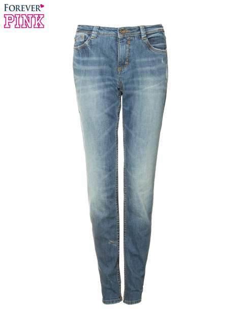 Jasnoniebieskie spodnie jeansowe typu rurki z cieniowaniem                                  zdj.                                  5