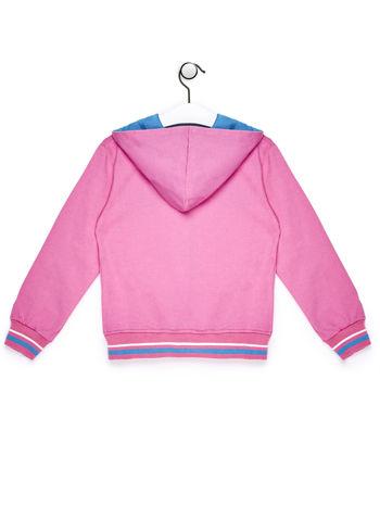 Jasnoróżowa bluza dla dziewczynki z cekinowym napisem