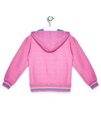 Jasnoróżowa bluza dla dziewczynki z kolorowym nadrukiem