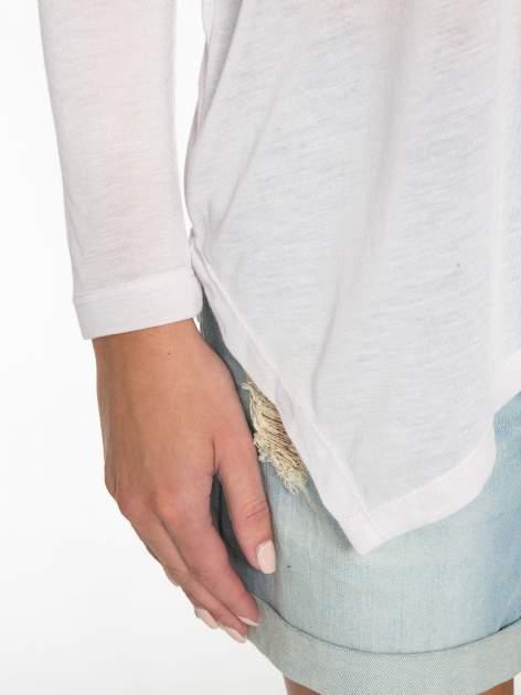 Jasnoróżowa bluzka z asymetrycznym cięciem na dole                                  zdj.                                  9