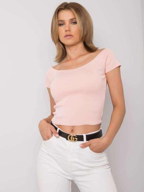 Jasnoróżowa dopasowana bluzka damska Promesse