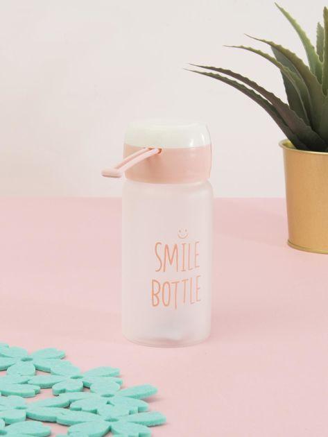 Jasnoróżowa ekologiczna butelka bidon z napisem                              zdj.                              8