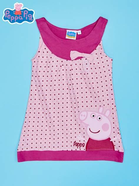 Jasnoróżowa sukienka dla dziewczynki ŚWINKA PEPPA                                  zdj.                                  1
