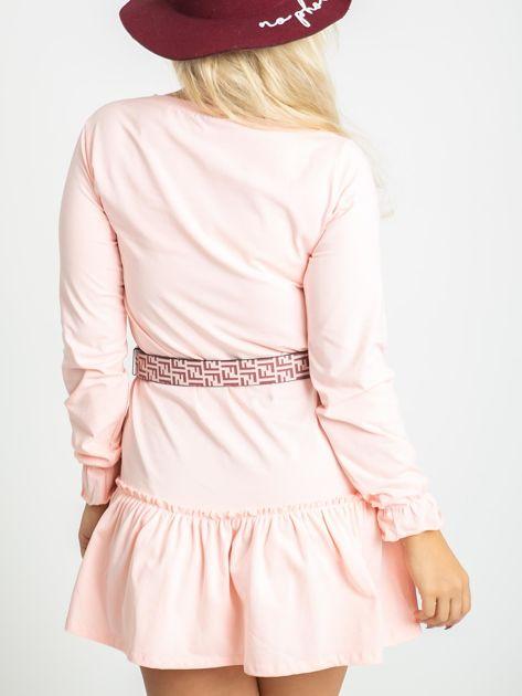 Jasnoróżowa sukienka plus size Nancy                              zdj.                              2