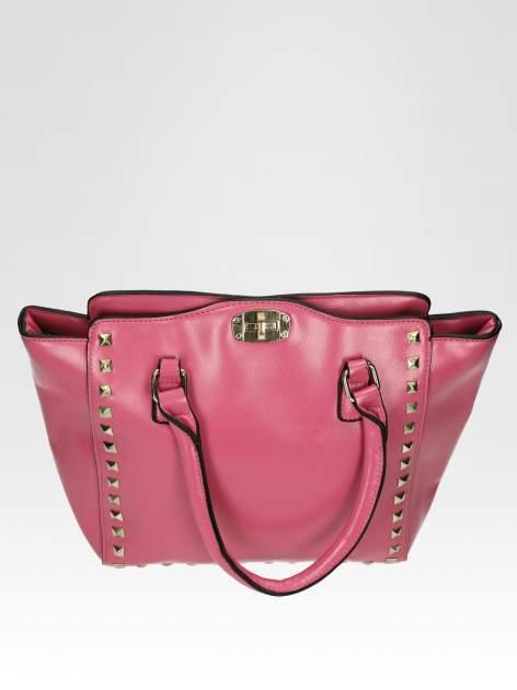 Jasnoróżowa torebka na ramię z dżetami                                  zdj.                                  6