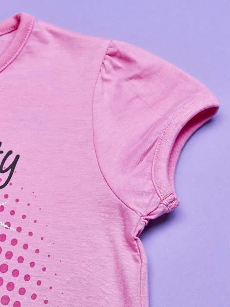 Jasnoróżowa tunika dla dziewczynki nadruk HELLO KITTY                                  zdj.                                  3