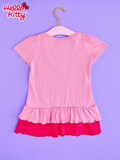 Jasnoróżowa tunika dla dziewczynki z motywem HELLO KITTY                                  zdj.                                  2