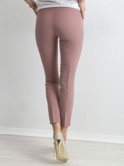 Jasnoróżowe spodnie z wiązaniem                               zdj.                              2