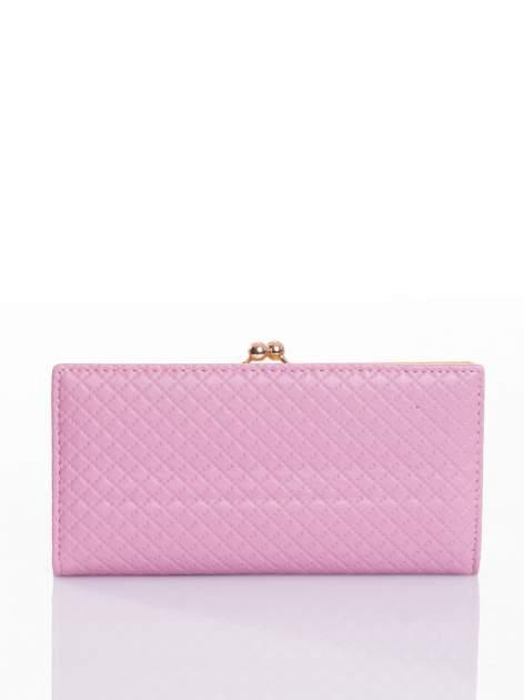 Jasnoróżowy elegancki portfel na bigiel                                  zdj.                                  1