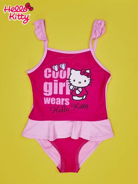 Jasnoróżowy strój kąpielowy dla dziewczynki HELLO KITTY                                  zdj.                                  1